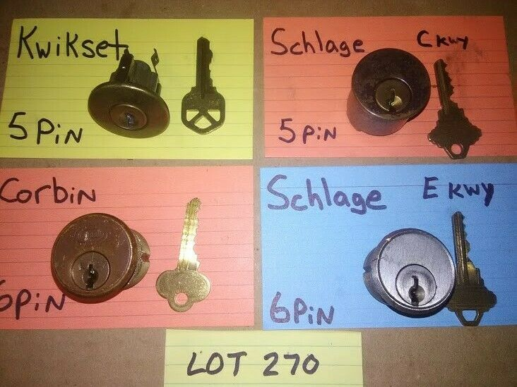 4 PCS. CHALLENGE LOCK CYLINDER SET; PICKERS, LOCKSPORT, LOT# 270