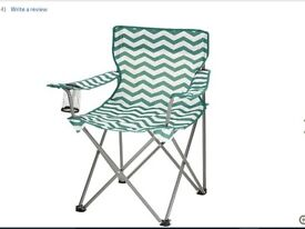 folding chair with cup holder new unused