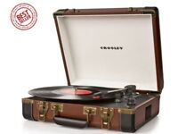 Crosley Executive Briefcase Style 3 Speed USB Turntable Record Player
