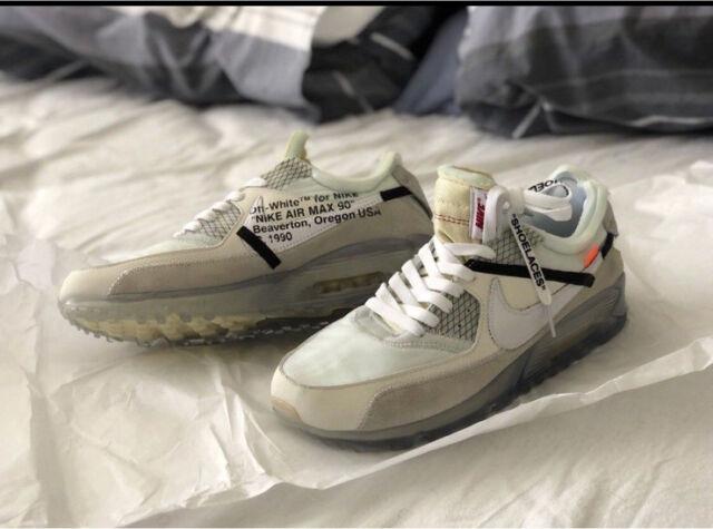 4f76fcb85a2a8 The Ten  Nike Air Max 90 x Virgil Abloh (Nike x Off-White) Sz US 9 ...