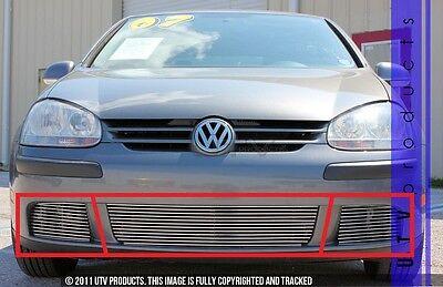 GTG 2007 - 2009 Volkswagen Rabbit 3PC Polished Replacement Billet Grille - Volkswagen Rabbit Parts