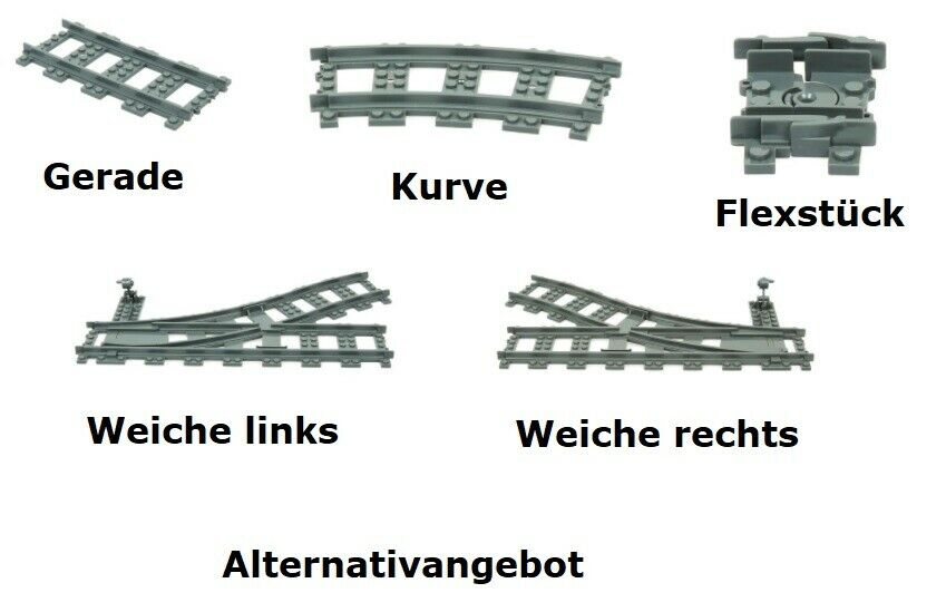 Zubehör für LEGO® City Zugsets: Bahnübergang/Prellbock/Schienen in Hannover