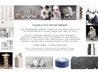 Plaster mould making, slip casting, glazing workshop - ceramics - London!