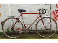 Vintage racing french bike JEUNET in orange frame 22inch serviced & warranty Welcome for cup of tea