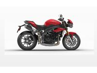 2016 Triumph Speed Triple 1050S (current model) - As new with only 1,500 miles!