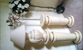 2 Display Pedestals with matching Lamp