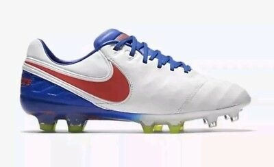 d00398757af Nike Tiempo Legend VI FG Leather Soccer Cleats 844248-164 Woman US 8 White  NEW