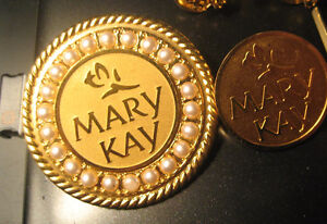 MaryKay consultant brooches and bee pins