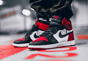 Looking for: Jordan 1 bred toe size 8