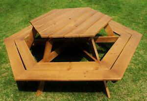 Brand New Finished Pine Picnic Table
