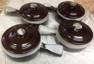 4 French Onion Soup Bowls with Lids