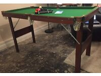 4.5ft Foldaway Snooker and Pool Table