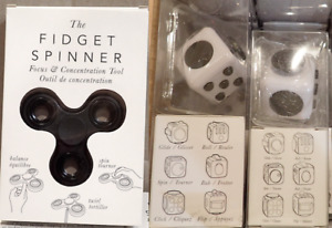 NIB Wholesale Fidget Toys (Spinners, 6-in-1 Cubes)