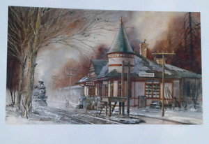 Smithville train station print by William Biddle