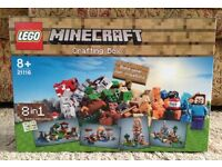 Lego Minecraft Crafting Box New
