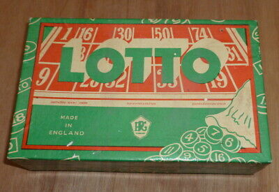 A Vintage H.B.Gibson & Sons LOTTO GAME