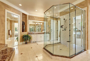 Glass shower doors#Frame less glass showers#Glass railings
