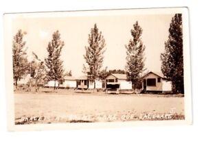 Carte postale PHOTO chalets à Brome Lake, Qué.