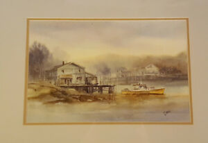 Fishing Village - Carol Sebold 1939 - 2010 - Original Watercolor