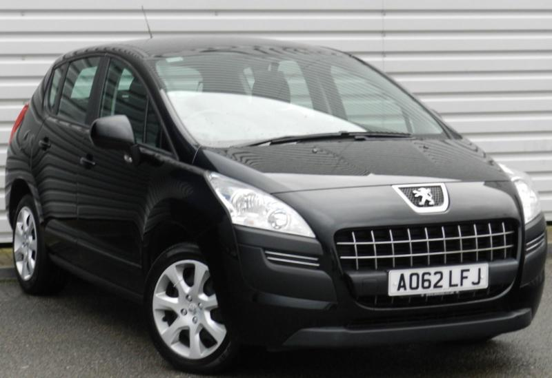 peugeot 3008 access 1 6 vti 5 door petrol manual crossover black 2012 in saxmundham suffolk. Black Bedroom Furniture Sets. Home Design Ideas