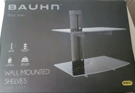 BAUHN Black series wall mounted shelves
