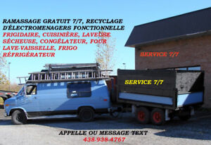 RAMASSAGE ELECTROMENAGERS FONCTIONNELLE  RECYCLAGE RECUPERATION