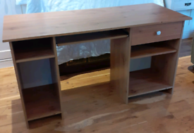 Desk with drawer and shelves