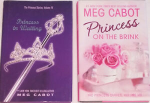 Qty 2 x Princess Diaries Hard Cover Books with Slip Covers