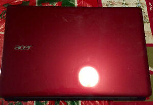 Red Acer laptop