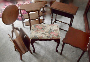 Lovely Small wood furniture pieces $15 and up