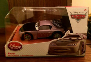 Disney store Die cast Cars Tuners Boost 1:43 NEW in Case
