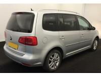 VOLKSWAGEN TOURAN 1.6 2.0 TDI 140 SE MATCH SPORT 7 SEATS FROM £51 PER WEEK!