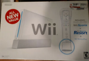 Brand new Nintendo Wii Gaming System with accessories-$40