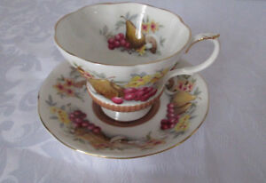 ROYAL ALBERT ENGLISH CUP AND SAUCER, COUNTRY FAYRE SERIES, DEVON