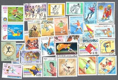 Olympics-Collection 1000 all different-mainly large-medium-world-sports stamps