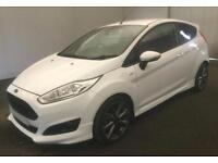 2016 WHITE FORD FIESTA 1.0 ECOBOOST 140 ST LINE 3DR HATCH CAR FINANCE FR £37 PW