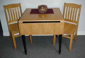 Drop Leaf Table & 3 Chairs
