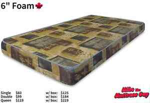 MIKES BRAND NEW SINGLE MATTRESS 6'' HIGH DENSITY FOAM MATTRESSES