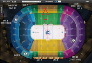 ***CHEAP CHEAP**DEAD CENTRE ICE***Vancouver Canucks Tickets ALL