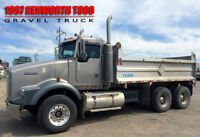 1997 KENWORTH T800 15' GRAVEL TRUCK