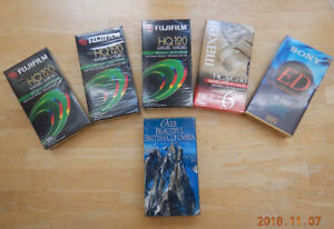Five New Sealed VHS Video Tapes plus Free Aerial Adventure