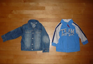 manteau de jeans, veste et pyjamas 3 et 3x