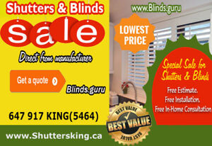 Blinds and Shutters Special