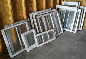 Huge Lot of Old Storm Country Farm Windows Window