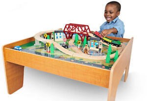 Imaginarium -  55-Piece Rail and Road Train Set with Table -Used