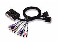 Aten CS682 - 2-Port USB 2.0 DVI Computer KVM Switch