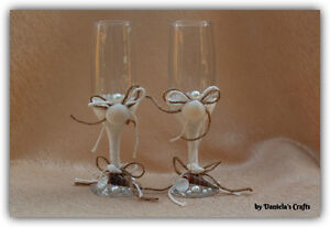 Hand made champagne glasses for weddings and special occasions Kitchener / Waterloo Kitchener Area image 5