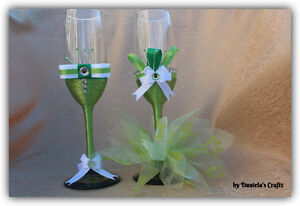 Hand made champagne glasses for weddings and special occasions Kitchener / Waterloo Kitchener Area image 8