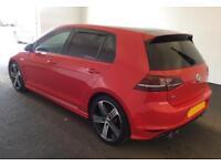 2015 RED VW GOLF R 2.0 TSI 300 4X4 PETROL MANUAL 5DR HATCH CAR FINANCE FR £71 PW