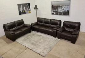 DFS ®️ Italian Leather 3 Piece Sofa Set - Only £399..!!!
